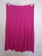 Talbots Ladies Pink COTTON/MODAL Full Gored SKIRT-S-WIDE Elastic WAISTBAND-GENTL - $14.99