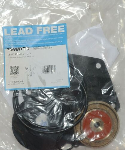 Watts Total Valve Rubber Parts Repair Kit 0794089 2 1/2 3 Inch