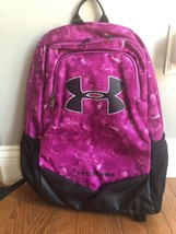 Nwt U Nder Armour Storm Scrimmage Backpack 1277422 PINK/PURPLE Print - $44.87