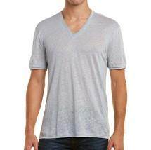 John Varvatos Collection Men's V Neck Jersey Details Linen Tee Shirt Pow... - $78.00