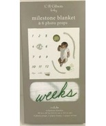 Baby Milestone Blanket Grow Days Weeks Months Animals Photo Props Cotton... - $14.35