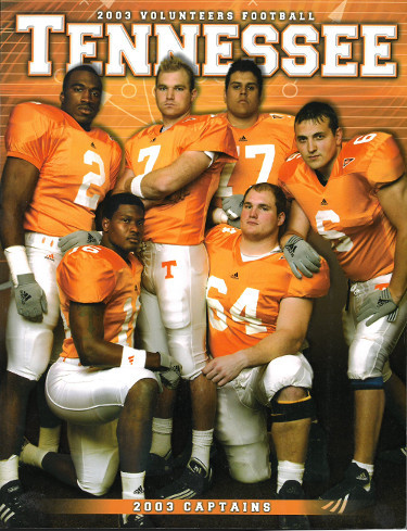 Primary image for Tennessee Volunteers 2003 College Football Official Media Guide/Program- excelle