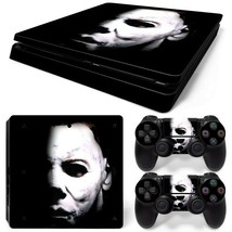 PS4 Slim Michael Myers Console & 2 Controllers Decal Vinyl Skin Wrap - $15.81