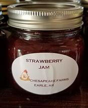 Strawberry Jam 4 Oz Size Arkansas Grown And Made Organic Great Gift Idea! - $3.00