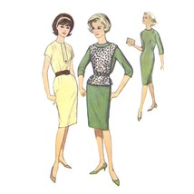 1960s Vintage Simplicity Sewing Pattern 4616 Junior Sheath Dress Easy 11... - $6.95