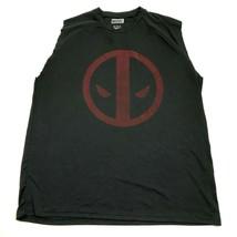 MARVEL Deadpool Dry Fit Cut Off Shirt Size 2XL XXL Men's Black Sleeveles... - $13.08