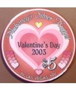 $5 Casino Chip, Silver Nugget, N. Las Vegas, NV. Valentine's 2003, LTD 500. W46. - $6.99