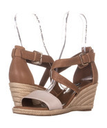 Nine West JorgaPeach Espadrilles Sandals 469, Dark Natural/Off White, 10 US - €26,65 EUR