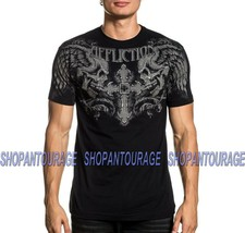 Affliction Winged Up A20629 New Short Sleeve Fashion Graphic T-shirt For Men - $42.50