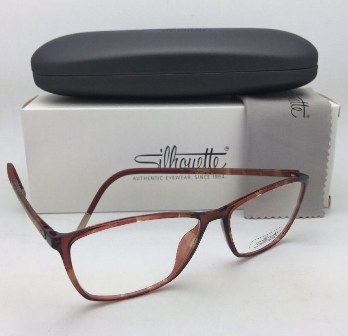 New SILHOUETTE Eyeglasses SPX 1560 20 6111 52-14 130 Tortoise Lightweight Frames