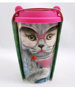 Mustard Coffee Crew Cat Cocktail Double Wall Porcelain Cup M12020E Disco... - $12.86
