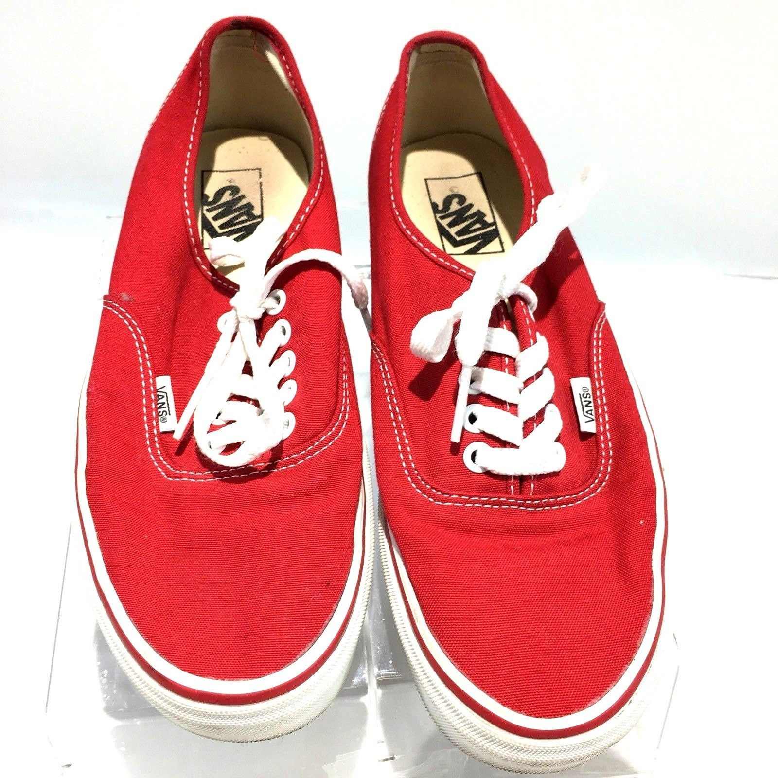 0956f65bda4 57. 57. Previous. VANS Off The Wall Red Canvas Low Cut Skateboard Sneakers  Mens Shoes Size 8.5M S5