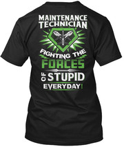 Must-have Awesome Maintenance Technician - Fighting Hanes Tagless Tee T-... - £17.45 GBP