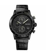 Hugo Boss 1513389 Rafale Chronograph Black Leather Dial Men's Watch - $166.22