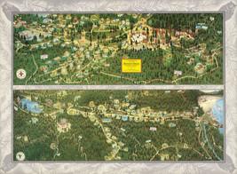 Pictorial Map Bohemian Grove Sonoma County California Poster Print Decor Art - $12.38