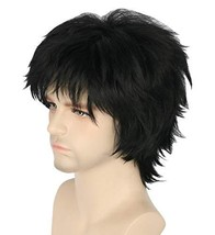 Topcosplay Woman Men Wig Short with Bangs Layered Fluffy Cosplay Hallowe... - $23.81