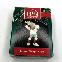 Hallmark Keepsake Ornament Reindeer Champs Cupid Volleyball 1991 - $8.94