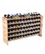 WineyBitches.Co 72 Bottle Wine Rack Wood Stackable - $154.99