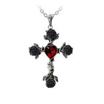 Alchemy Gothic P758  Black Rosifix Necklace Pendant - $58.71