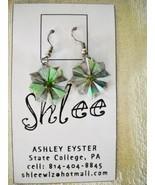 UNIQUE SHLEE HANDMADE MULTI-COLOR ORAGAMI PAPER FLOWER DROP DANGLE HOOK ... - $12.99