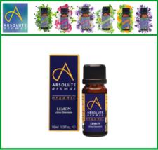 Absolute Aromas Organic Lemon Essential Oil, 10ml - $12.00