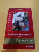 Canon PP-201 Photo Paper Plus Glossy II, 4x6 inch - 100 Sheets - $9.97