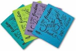 SKOY™Cloth Earth Friendly 100%Biodegradable/Natural 4 Pk Inspirational Text - $7.19