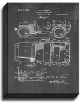 Military Vehicle Body Patent Print Chalkboard on Canvas - $39.95+