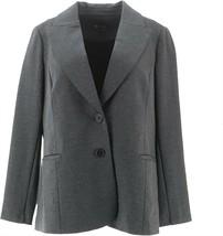 DG2 Diane Gilman Ponte Knit Boyfriend Blazer Heathered Gray S NEW 671-263 - $22.75