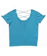 Guess Size M Womens Aqua Blue Cropped Top - $12.99