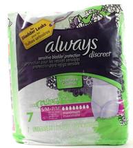 Always Discreet 7 Underwear S/M 115-190 LBS Sensitive Bladder Leaks Protection - $17.99