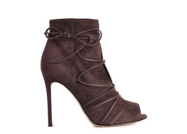 Gianvito Rossi Womens Brown Suede Ellie Ankle Boots Size IT40.5/US10.5~R... - $617.50