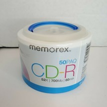 Memorex CD-R 50PK  - New - 52X 700MB 80min - Sealed - $17.41