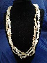 "19"" Handmade Carnelian Chip Beaded Necklace Z150 - $80.00"