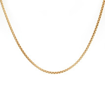 2.2 mm 14K Yellow Gold Box Link Chain Necklace - $533.61