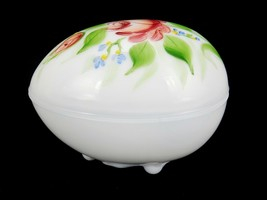 NWGCC WESTMORELAND Glass Egg Trinket Box White Carnival Glass~ 2004 15th... - $39.15