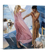 ARTCANVAS After Bathing - Valencia Canvas Art Print by Joaquin Sorolla y... - $41.99+