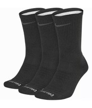 Nike Running EVERYDAY MAX CUSHIONED CREW SOCKS LARGE 3 PAIR SK0121-010 B... - $24.50