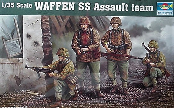 Trumpeter 1/35 kit 00405  WW2 German Waffen Assault Team Figures