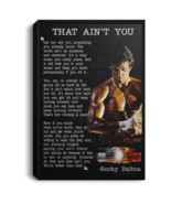 Rocky Balboa Speech That Ain't You CANPO75 Black Canvas .75in Frame - $25.00+