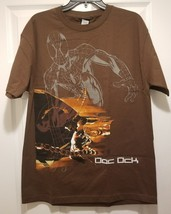New Marvel Spider-Man vs Doc Ock Adult Large Brown Cotton T-shirt - $10.89