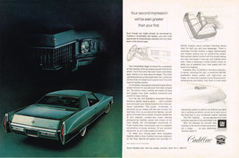 Vintage 1971 2-Page Magazine Ad Cadillac Second Impression Will Be Greater First - $5.93