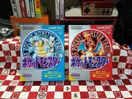 Game Boy Pokemon Red & Blue Set Video game Japan Import - $49.49