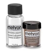 Metallic Powder (.17 oz) with Mixing Liquid (1 oz) (BRONZE) - $14.75