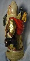 Vaillancourt Folk Art Gold European Father Christmas, signed by Judi! Last one! image 2