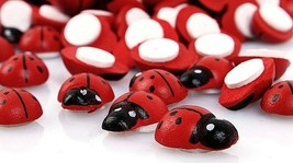 """Small RED LADYBUG Stick-on Wood Craft Pieces 1/2"""" x 3/8"""" (12mm) Scrapboo... - $2.47+"""