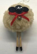 "Sheep Clothespin Christmas Tree Ornament Handmade 3.5"" Tall Lamb - $8.95"