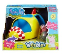 peppa pig weebles rockin rocket for kids - $43.95