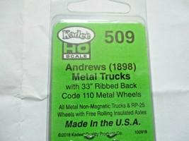 Kadee # 509 Andrews (1898) Metal Trucks With #148 Whisker Couplers 1 Pair (HO) image 2