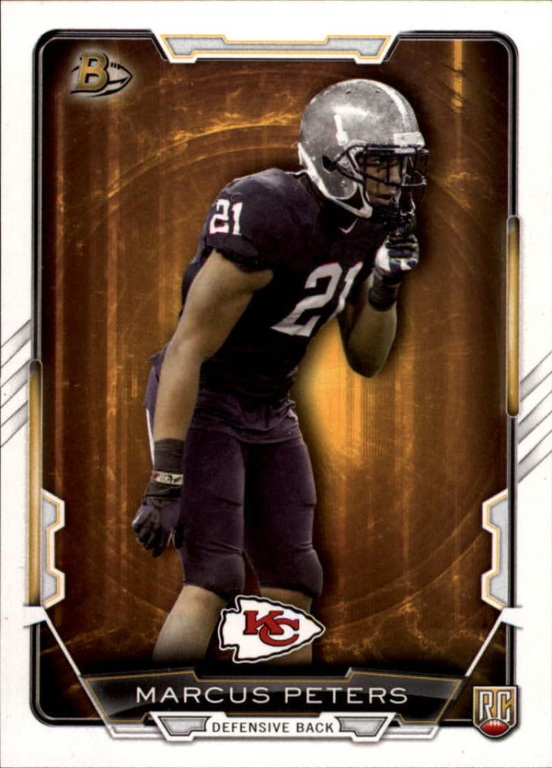 Primary image for 2015 Bowman Rookies #1 Marcus Peters NM-MT RC Rookie Chiefs
